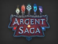 Magical Trading Card Game 3D logo design