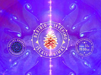 Liberation of Unlimited Inspiration ayahuasca dmt lsd art surreal art consciousness illustration digital media genie magic spiritual sąmoningumas budimo kanalas paulius daukšas trippy dream surreal webinar mindfulness