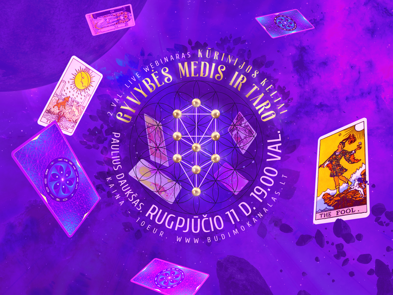 The Tree of Life & Tarot mystic mysticism surreal magic dream spiritual banner trippy budimo kanalas paulius daukšas mindfulness design tarot tarot cards soul revelation major arcana magick event picture facebook banner
