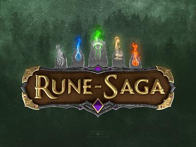 Magical RPG Game 3D Logo Design 3d logo artist 3d logo artist medieval design pagan design runes magic game art rpg game design rpg game design 3d logo design 3d logo