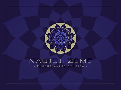 Magical Lotus Spiral Logo magical logo designer logo design a new earth stars lotus spiral surreal logo design trippy psychedelic mindfulness spiritual magic