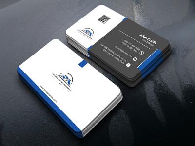 Modern Business Card Design clean professional creative modern visitingcard business card brand identity design design branding