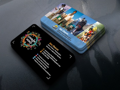 Realistic Business Card professhional professhional web app vector logo business card brand identity design design branding