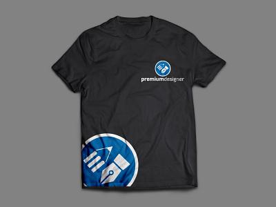 Logo with T shirt icon professhional web business card app typography vector logo illustration brand identity design design branding