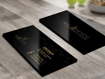 Illuminate Business Card flat web professhional app vector business card brand identity design design branding