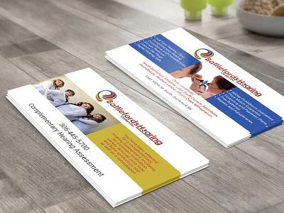 Hearing Center Business Card flat printmaking print professhional vector business card brand identity design design branding