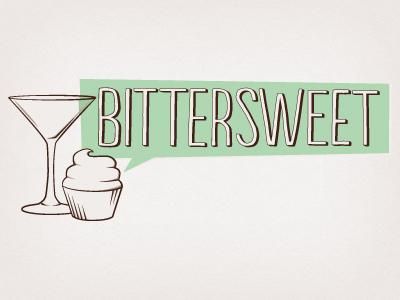 Bitter Sweet Logo bittersweet cocktail logo dessert bar branding