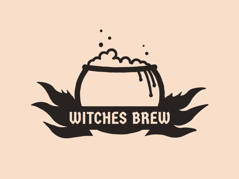 Day 1/31 Witches Brew cauldron fire branding challenge challenge branding 31daysofhalloween witchcraft witches design halloween logo