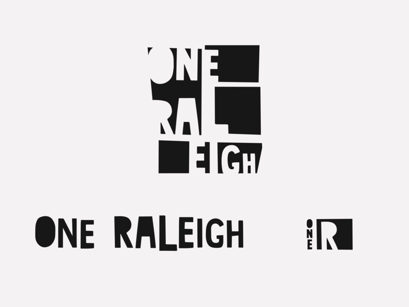 One Raleigh Branding monochrome cutout collage north carolina raleigh branding design city grid branding