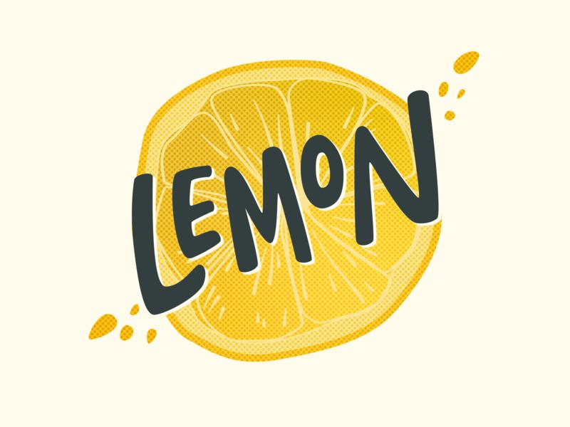 Lemon! citrus hand lettering handdrawn type yellow fruit illustration lemonade branding lemon