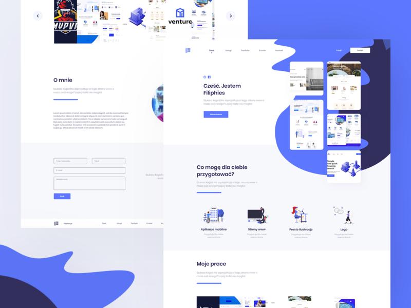 Portfolio - Website filiphies portfolio blue website web ui  ux design ui