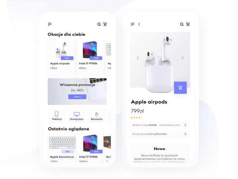 Mobile Shop app design app ux vector typography uipractice training filiphies design blue ui  ux design ui