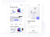 Mobile Shop app design