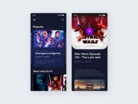 Video streaming app concept