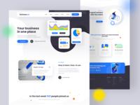 Buisness app. Website concept
