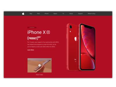 iPhone XP Landing Page | Concept