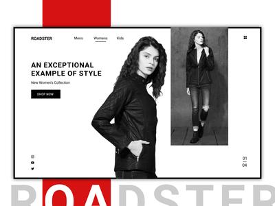 Roadster Web Design | Concept