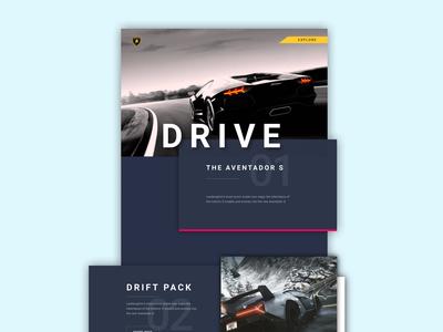 Lamborghini Aventador S | Landing Page Concept