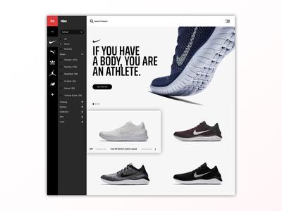 Shopping Web Design | Concept
