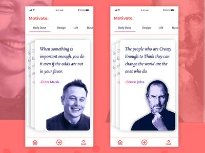 Motivate App | Concept