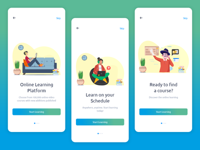 e learning onboarding screens ui  ux concept design ui design uiux ui uidesign onboarding ui onboard elearning