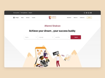 studying abroad agency landing page