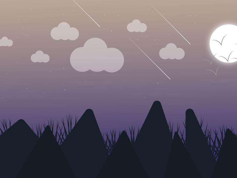 Night Time Illustration night scene night night time illustrations vector illustration