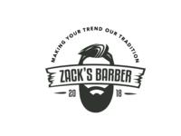 Zack's Barber Shop logo concept