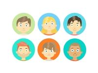 WeShare App Avatars