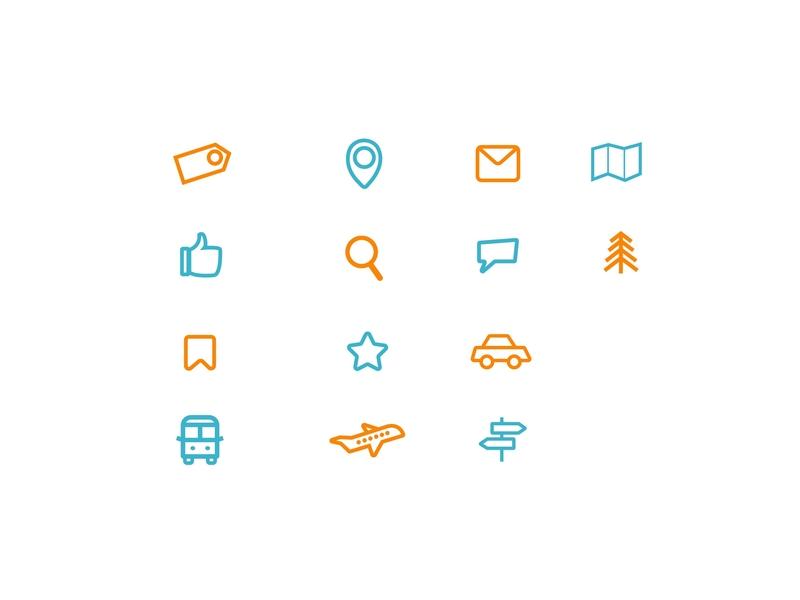Travel Icons travel icons car icons travel icons iconography app branding