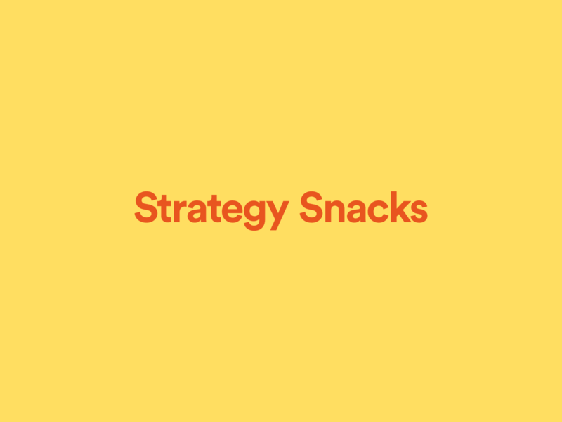 Introducing Strategy Snacks newsletter free freebies advertising marketing strategy