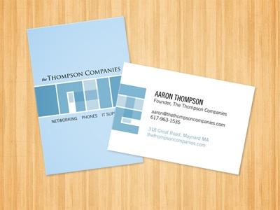 TTC Business Cards branding business cards