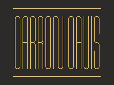 Condensed typography lines