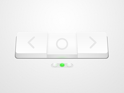 White Chunk button light navigation