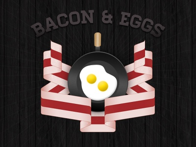 An Ode to Breakfast bacon eggs ribbon pan cooking