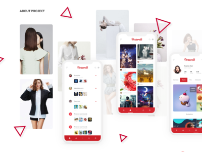 Mobile Pinterest redesign concept ui ux mobile concept redesign pinterest