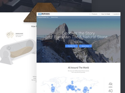 How It's Made how its made website ux ui landing page mountains story earth nature