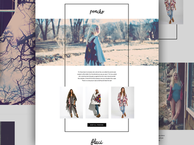 Sweater Guide Landing Page brand website holiday marketing web design clothing landing page ux ui