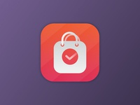 Shopping bag app icon
