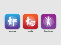 success goals and happiness app icon
