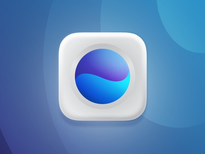 3D Washing Machine app icon 3d base abstract water blue vector branding dribbble washing machine ui icons design colorful gradient art mark flat app icon icon illustration