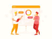 Cryptocurrency platform illustration