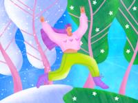 Spring is coming Illustration design