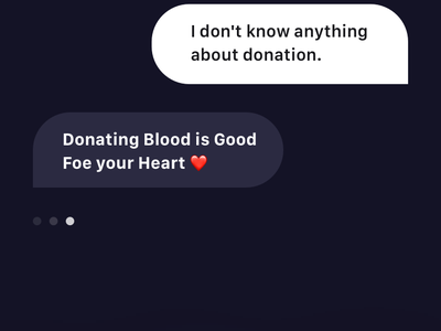umbrella app brandnew assistant blood app donation menu sidebar voice messages clean minimal dark