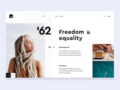 lifestyle layout freedom image landing page hero typography web ui design white simple app minimal clean brandnew