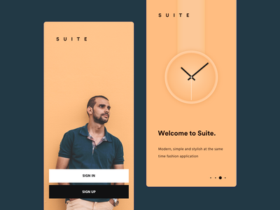 suite design ui minimal simple clean brandnew
