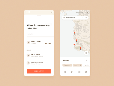 places filter place destination location pin maple app ui design simple clean minimal brandnew