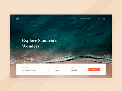 seatos landing landing travel web hero design app clean simple minimal brandnew