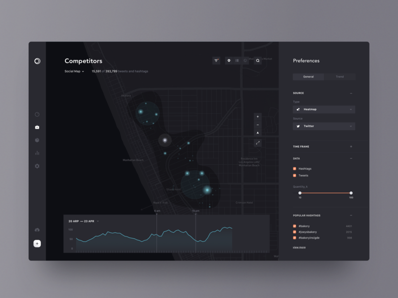 mapping competitors interface filter data dark app design ui simple clean minimal brandnew