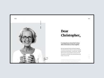 letter typography web hero white app design ui simple clean minimal brandnew